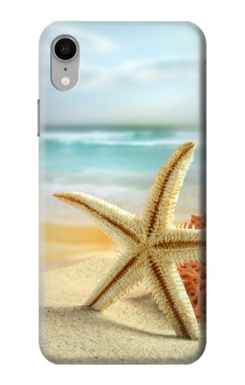 Printed Starfish on the Beach iPhone XR Case