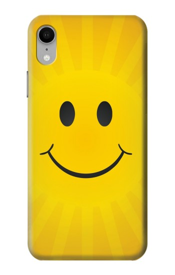 Printed Yellow Sun Smile iPhone XR Case