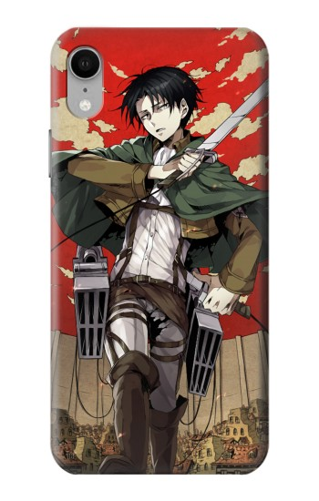 Printed Attack on Titan Rivaille Levi iPhone XR Case