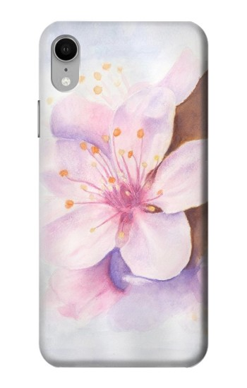 Printed Sakura Blossom Art iPhone XR Case
