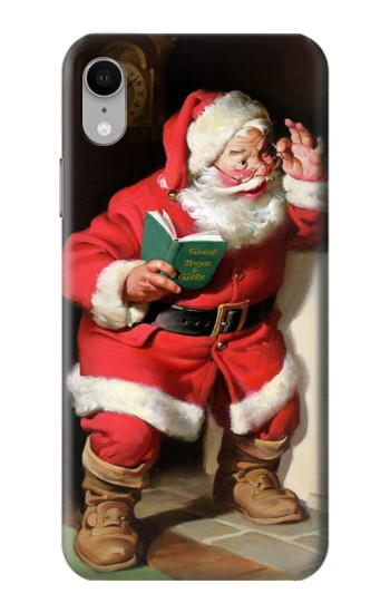 Printed Santa Claus Merry Xmas iPhone XR Case