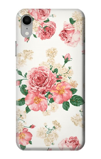 Printed Rose Pattern iPhone XR Case