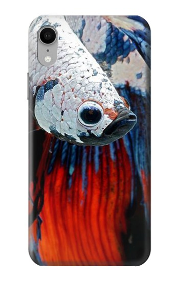 Printed Siamese Fighting Fish iPhone XR Case