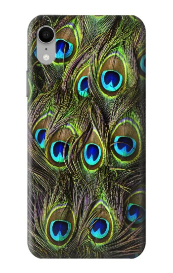 Printed Peacock Feather iPhone XR Case