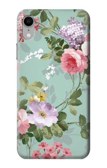 Printed Flower Floral Art Painting iPhone XR Case