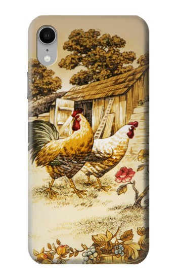 Printed French Country Chicken iPhone XR Case