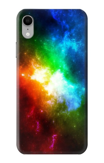 Printed Colorful Rainbow Space Galaxy iPhone XR Case