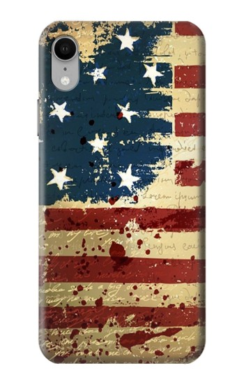 Printed Old American Flag iPhone XR Case