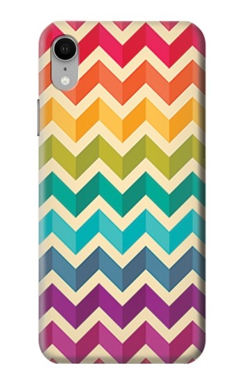 Printed Rainbow Colorful Shavron Zig Zag Pattern iPhone XR Case