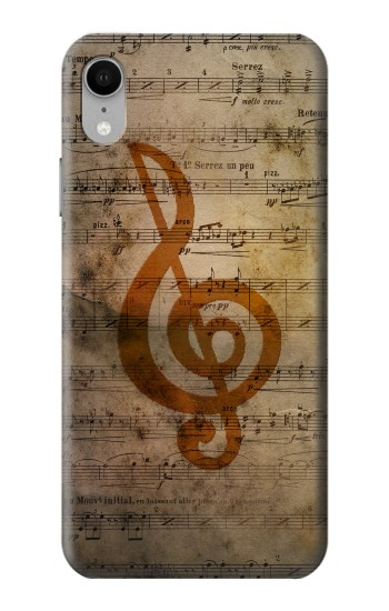 Printed Sheet Music Notes iPhone XR Case
