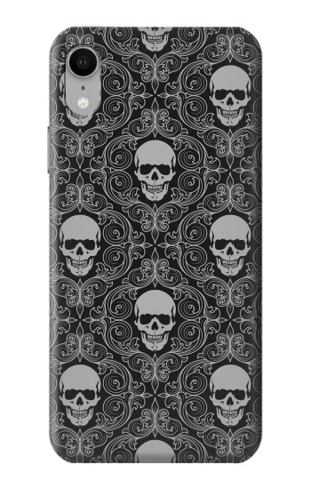 Printed Skull Vintage Monochrome Pattern iPhone XR Case