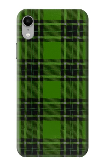 Printed Tartan Green Pattern iPhone XR Case