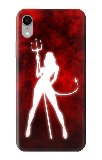 Printed Sexy Devil Girl iPhone XR Case