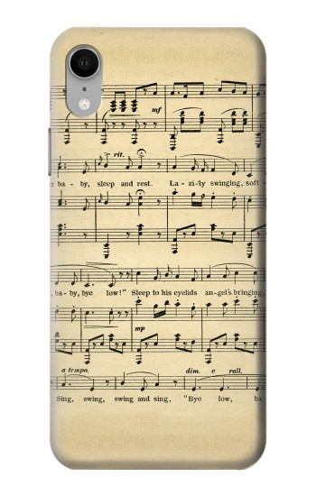 Printed Vintage Music Sheet iPhone XR Case