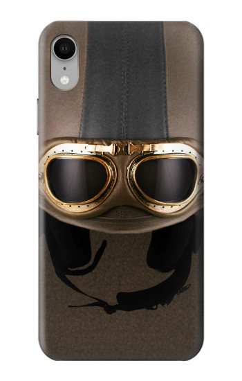 Printed Vintage Brown Goggles Helmet iPhone XR Case