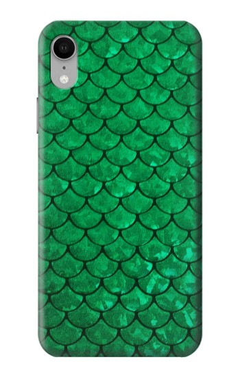 Printed Green Fish Scale Pattern iPhone XR Case