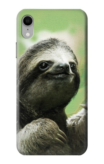 Printed Smiling Sloth iPhone XR Case