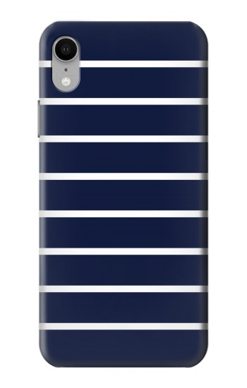 Printed Navy White Striped iPhone XR Case
