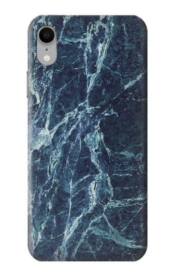 Printed Light Blue Marble Stone Texture Printed iPhone XR Case