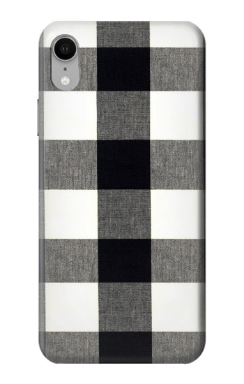 Printed Black and White Buffalo Check Pattern iPhone XR Case