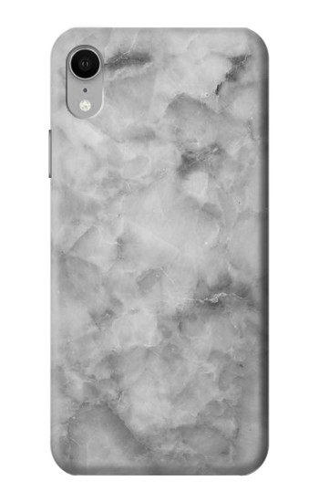 Printed Gray Marble Texture iPhone XR Case