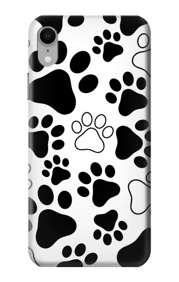 Printed Dog Paw Prints iPhone XR Case