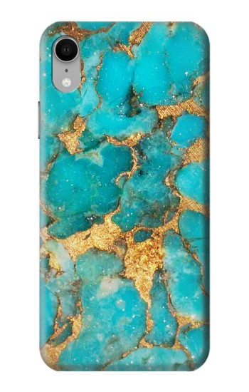 Printed Aqua Turquoise Stone iPhone XR Case