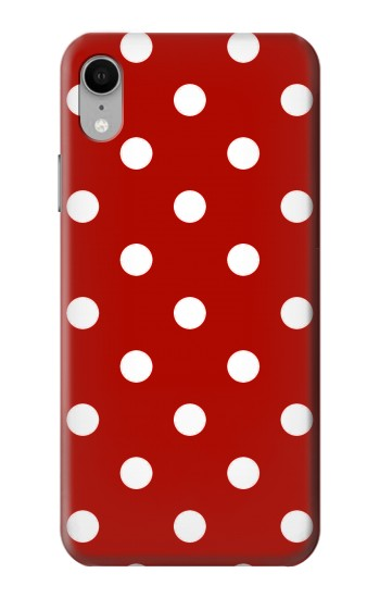 Printed Red Polka Dots iPhone XR Case