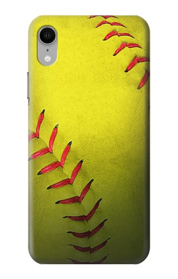 Printed Yellow Softball Ball iPhone XR Case