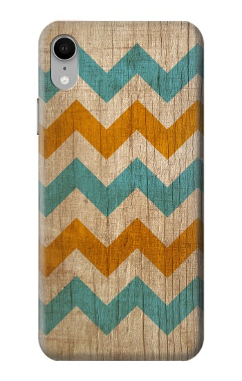 Printed Vintage Wood Chevron iPhone XR Case