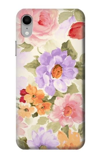 Printed Sweet Flower Painting iPhone XR Case