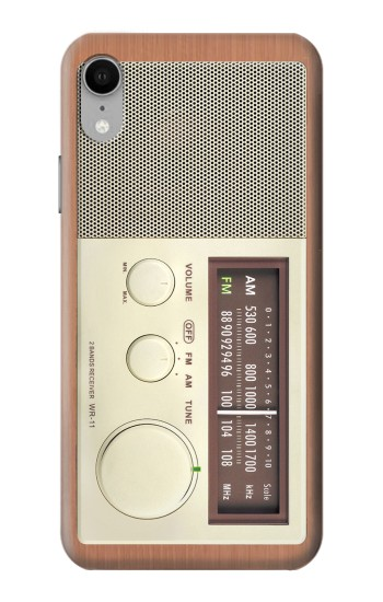 Printed FM AM Wooden Receiver Graphic iPhone XR Case