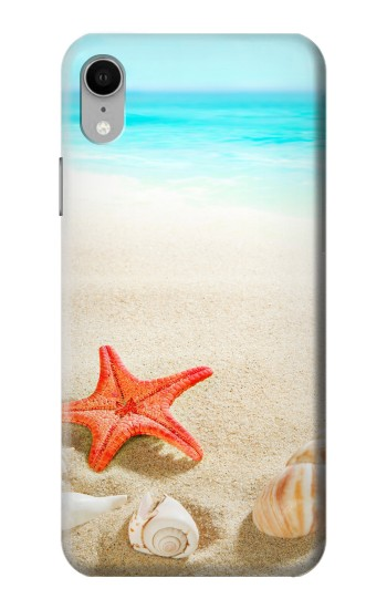 Printed Sea Shells Starfish Beach iPhone XR Case