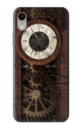 Printed Steampunk Clock Gears iPhone XR Case