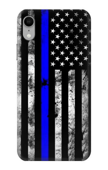 Printed Thin Blue Line USA iPhone XR Case