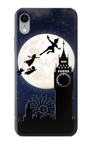 Printed Peter Pan Fly Fullmoon Night iPhone XR Case