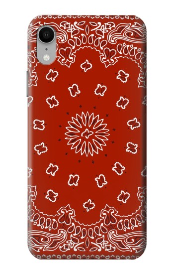 Printed Bandana Red Pattern iPhone XR Case