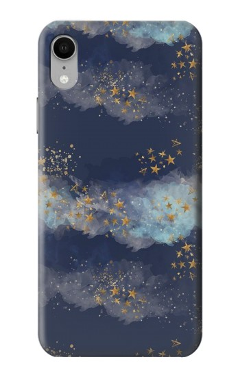 Printed Gold Star Sky iPhone XR Case