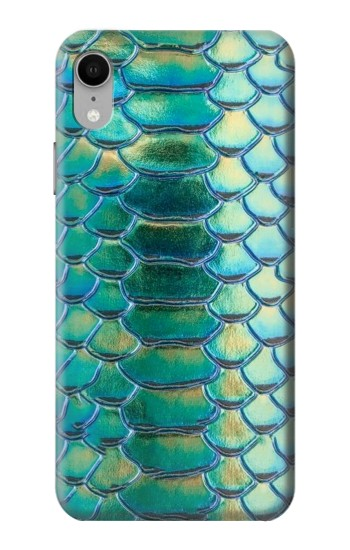 Printed Green Snake Scale Graphic Print iPhone XR Case
