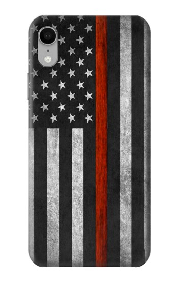 Printed Firefighter Thin Red Line Flag iPhone XR Case