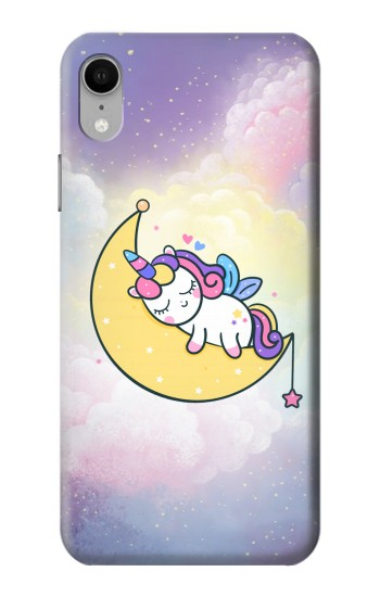 Printed Cute Unicorn Sleep iPhone XR Case