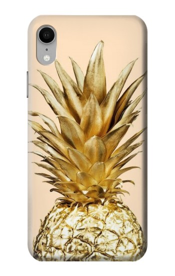 Printed Gold Pineapple iPhone XR Case