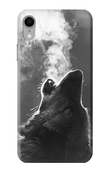 Printed Wolf Howling iPhone XR Case