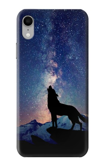 Printed Wolf Howling Million Star iPhone XR Case