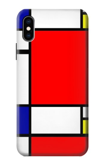Printed Composition Red Blue Yellow iPhone XS Case