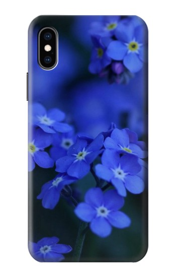 Printed Forget me not iPhone XS Case
