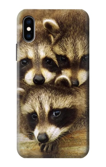 Printed Baby Raccoons iPhone XS Case