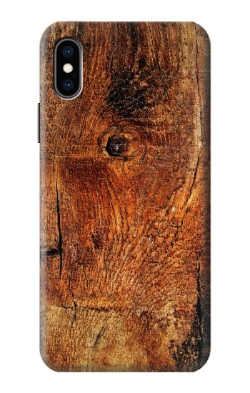 Printed Wood Skin Graphic iPhone XS Case