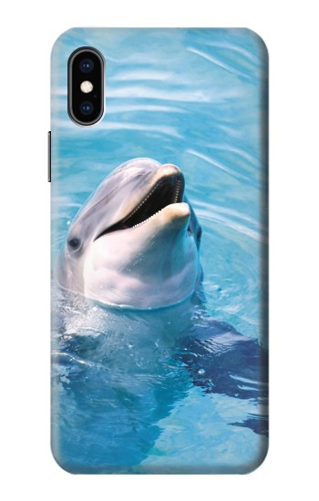 Printed Dolphin iPhone XS Case