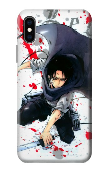 Printed Attack on Titan Rivaille Levi iPhone XS Case